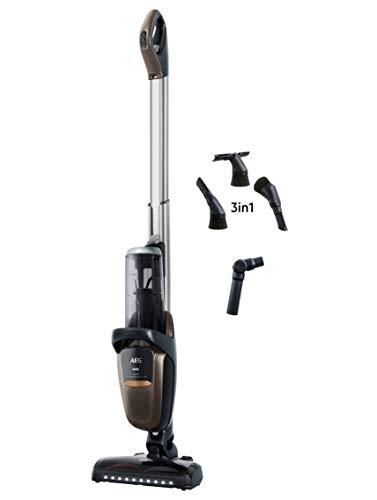 AEG FX9-1-MBM Multifunktions Akku-Staubsauger / beutellos / Zubehör / verstellbare Motoreinheit & Teleskoprohr / bis zu 60 min / 3 Stufen + Automatik / freistehend / LED-Frontlicht / bronze