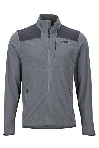 Marmot Reactor Jacket Polar, Chaqueta Outdoor, Transpirable, Resistente Al Viento, Hombre, Steel Onyx/Dark Steel, XL