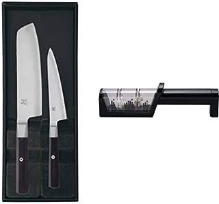 MIYABI ミヤビ 「4000FC 2pcsセット 」 菜切り 小刀 包丁セット ギフト 日本製 33961-002 専用シャープナー付き