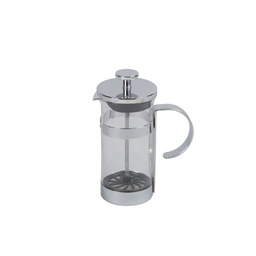 Milchaufschäumer Glas/chr.350