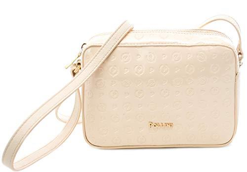 Pollini Damen-Handtasche Heritage Lack Embossed, Beige - Nudo - Größe: Einheitsgröße