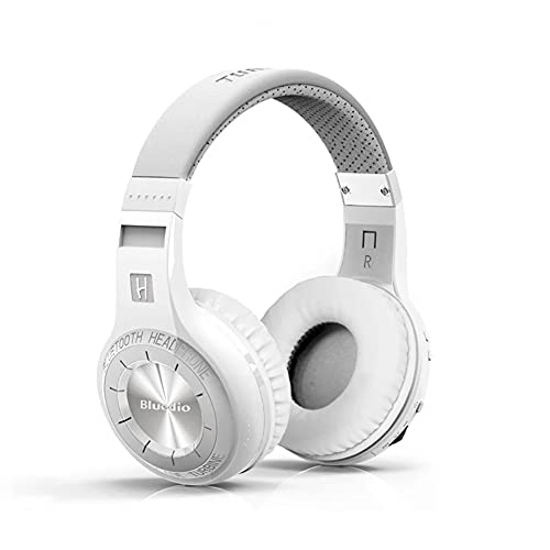 Bluetooth Inalámbrico Sobre El Auricular Del Oído Con Micrófono, Auriculares Híbridos De Cancelación De Ruido Activo, Audio De Alta Resolución, Bajos Profundos, Para Teléfono Celular, TV, PC,Blanco