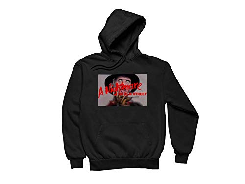 Women's Freddy Krueger Design Hoodie Long Sleeve Funny Pullover with Pocket Black X-Large