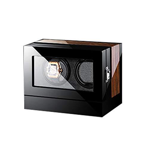 ZFF Caso del Reloj del Almacenaje Mira Enrollador For 6 Relojes Automáticos Y 24 Cuadrículas Silencioso Silencioso del Motor De Rotación Múltiple (Size : 8204-9)