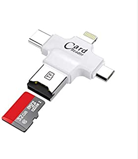 4 in 1 Card Reader USB2.0 Micro SD Card Reader Portable Mini Card Reader for iPhone 7 6 plus 5 SE for iPad