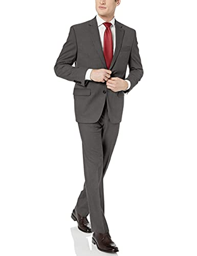 Chaps Men's All American Classic Fit Suit Separate Blazer , Grey Sharkskin, 48 Long