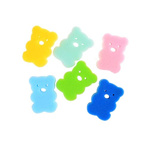 Cepillo De Baño De Fruta Para Bebé, Esponja De Baño De Dibujos Animados Para Bebé, Soplo De Polvo Para Niños, Producto De Ducha Infantil, Bolas De Toalla Color aleatorio