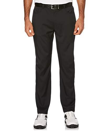 PGA TOUR Herren Flat Front Active Waistband 5-Pocket Pant Golfhose, Caviar, 42W / 34L