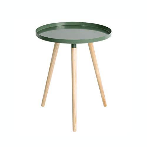 Huahua stoel bijzettafel, eindtafel, houten salontafel met massieve dennenbenen, 19.68 * 16.53in