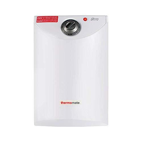 Thermomate UT10 Termo Electrico, Termostato Temperatura 7-75º, 2000W, Con Capacidad De 10 Litros, para Cocina y Bano, Blanco