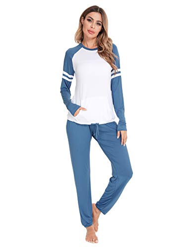 Image of Cozy Cute Raglan Lounging Pajamas for Women - See More Colors