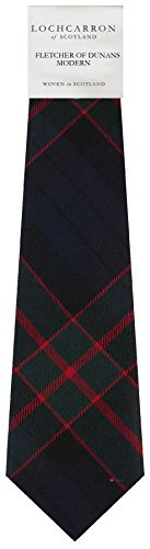I Luv Ltd Gents Neck Tie Fletcher of Dunans Modern Tartan Lightweight Scottish Clan Tie