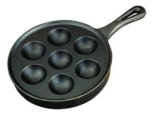 Our #4 Pick is the Camp Chef Cast Iron Aebleskiver Pan