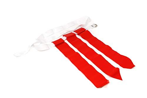 FLAG FOOTBALL Flaggen und Gürtel von 10 (1 von 3 Barnett (Rot)