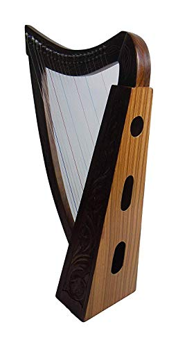ROYAL HARPS Celtic Irish Lever Harp 22 Strings Free Deluxe Bag - Extra Strings & Tuning Key