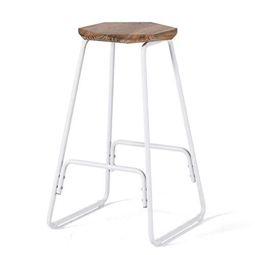 Chair Domaine Simple Tabouret En Fer Forgé Tabouret De Bar En Bois Massif Tabouret Haut A+ (Couleur : 3)