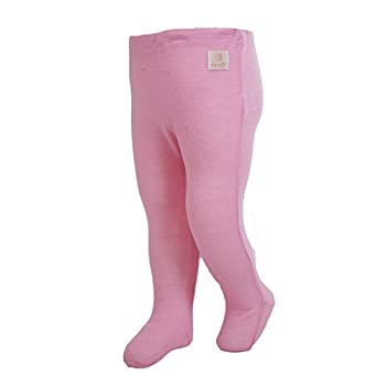 Janus 100% Merino Wool Baby Footed Pants Machine Washable Made in Norway  0-4 Months Pink