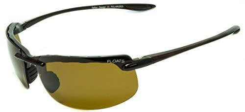 Floats Polarized F-4117 Sunglasses Polarized Unisex Sport Style Rimless Rubber nose & earpiece non slip UV Protection