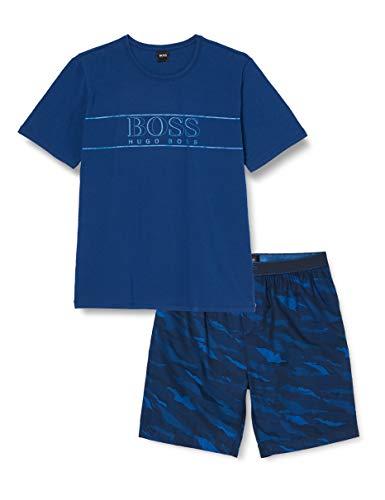 BOSS Herren Urban Short Set Pyjamaset, Medium Blue425, M