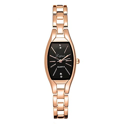 Women Watches Analog Quartz Square Dial Unisex Stainless Steel Alloy Strap Watch Girl Wristwatch Teen Girls Fashion Watches