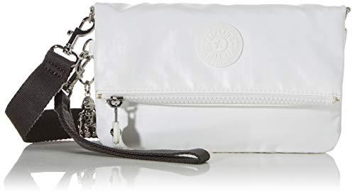 Kipling Lynne, Bolso Con Bandolera para Mujer, Blanco (White Metallic), 20x12.5x2.5 cm