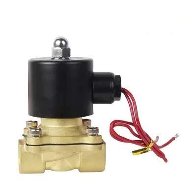Válvulas de Solenoide 1/4 ', 1/8', 1/2 ', 3/4', 1 ', 2', AC220V, válvula neumática de válvula de solenoide eléctrica DC12V / 24V para agua de aire de aceite de aceite ( Color : DN08 , Voltage : 220V )