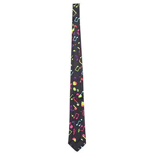 LUOEM Notas Musicales Corbata Corbatas Flacas Novedad Corbatas Diadema Pelo Seda Bufanda Decorativa Cosplay Favores de Fiesta