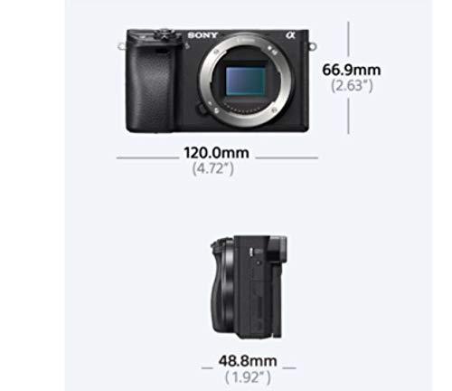 Sony Alpha 6300 E-Mount Systemkamera (24.2 Megapixel, 7,5 cm (3 Zoll) Display, XGA OLED Sucher) schwarz
