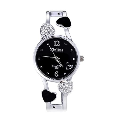 UKCOCO Elegante Reloj de Cuarzo para Mujer Reloj de Pulsera de Diamantes para Chicas Reloj de Pulsera de Cuarzo para Mujer
