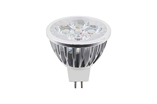MR16 LED-lamp, 4W 700LM, Equivalent aan 40W halogeenlamp, AC/DC 12V, 5 per verpakking, [Energieklasse A +]