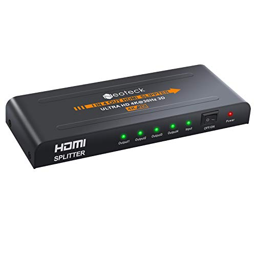 Neoteck 4 Way HDMI Splitter 1080P HD Cubo Smart Splitter Box HDMI...