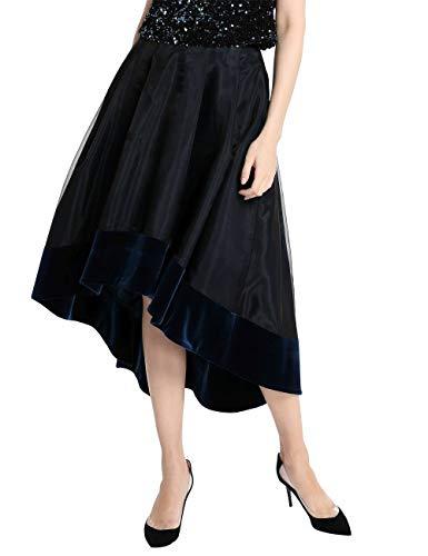 APART eleganter Damen Rock, Glamour, Vokuhila Style, mit Samt-Saum