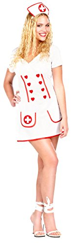 infactory Sexy Halloween Kostüme: Kostüm Krankenschwester Gr. L (Karnevalkostüm Damen)