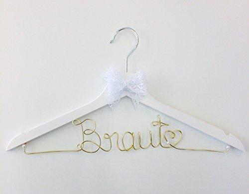 Kleiderbügel Braut GOLD für Hochzeit - individuell gestaltbar