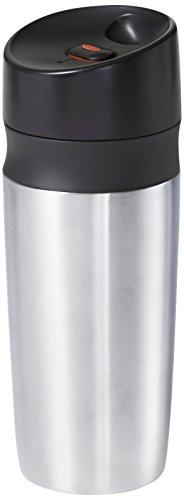 OXO Good Grips Double Wall Travel Mug, Silver,18 Oz