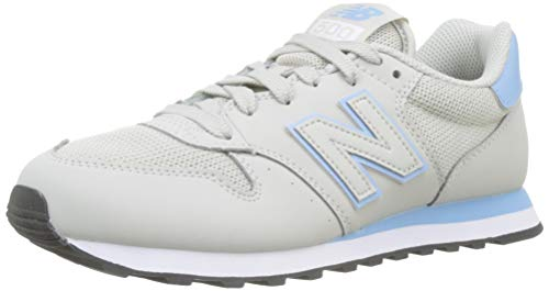 New Balance Damen 500 Sneaker, Grau (Light Cliff Grey/Pink Mist SCP), 37.5 EU