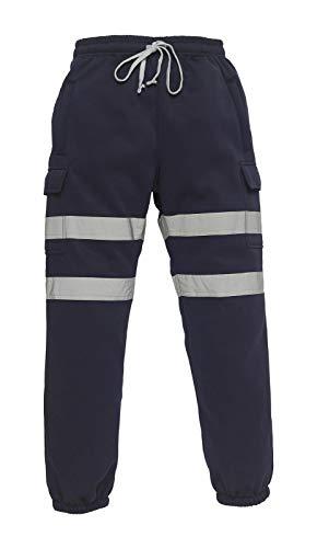 LJ Pantalones de combate para hombre, de alta visibilidad, pantalones de combate, pantalones de seguridad para el sudor, súper suaves, de forro polar