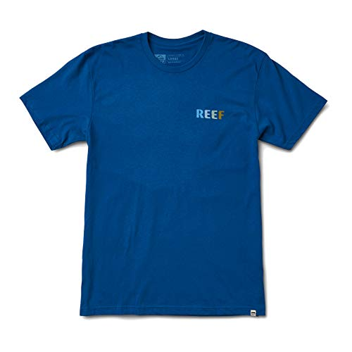 Reef Men's Logo T-Shirt, Circle Blue, XXL