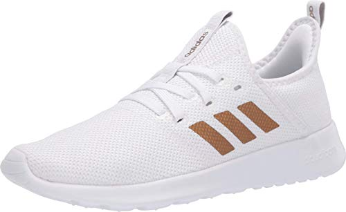 adidas Women's Cloudfoam Pure Running Shoe, White/Tactile Gold, 7 Medium US