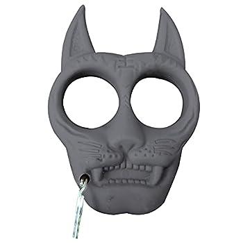 TAKE FANS Porte-clés portable en plastique en forme de tigre - Accessoire de survie pour l'extérieur (noir)