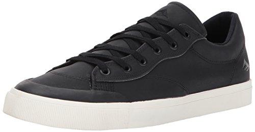Emerica Men's Indicator Low Skate Shoe, Black/White/White, 7.5 Medium US