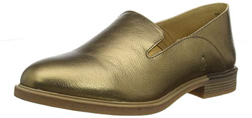 Hush Puppies Damen Bailey Slip on Slipper, Gold (Antique Gold Leather Gold), 42 EU