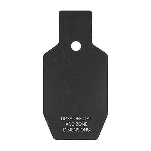 Solid Tactical AR500 Steel Targets for Shooting - 2 Pack (5.89' x 11.81' inches) USPSA Half A&C Zone - Metal Targets Perfect for Human Target Practice