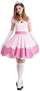 thematys® Super Mario Princesa Peach Vestir - Conjunto de Disfraces para Mujer Carnaval y Cosplay (Large) 165cm - 170cm