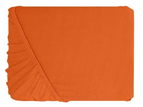 #18 npluseins Kinder-Spannbettlaken, Spannbetttuch, Bettlaken, 70×140 cm, Terrakotta - 2