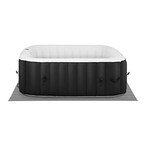Uniporodo SPA Hinchable Piscina De Hidromasaje Uni_Pools_18 (900 litros, para 6 Personas, 130 Salidas de Aire, En Negro y Blanco)