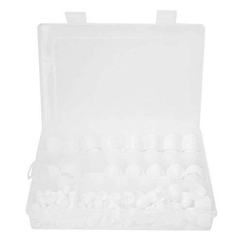 Tapa de tuerca Domo 145 piezas/caja Kit de tuercas de goma Domo M4 M5 M6 M8 M10 M12 Tornillos hexagonales de tapa de tuerca (145 piezas/盒 白色 盖帽)