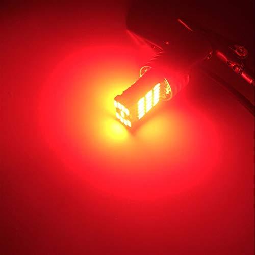 Tira de luz LED S25 Car 4014 45 SMD 1157 BAY15D P21 / 5W LED 1016 Doble Contacto Doble señal de Giro Stop Stop Stop Tail Bulb LÁMPARA Red CANBUS Error Gratis Tira de luz