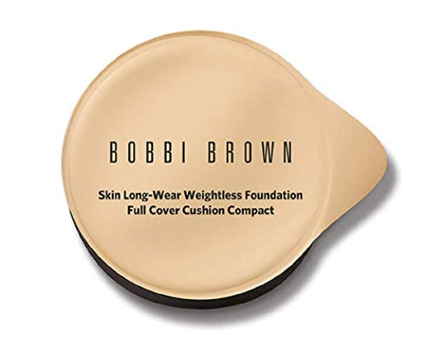仮説分布有名ボビーブラウンスキンロングウェアウエストレスファンデーションフルカバークッションコンパクトレフィル(スポンジ付)5色展開 (ミディアム)
