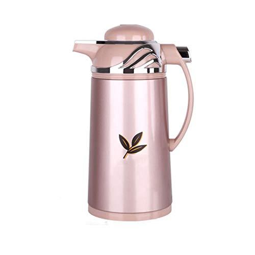 LZC Caraffa per caffè da 1,6 Litri, boccetta per Vuoto isolata a Doppia Parete in Acciaio Inossidabile, Vaso per Server per Bevande con ritenzione di Calore 24 Ore su 24, per Ristorante, Ufficio